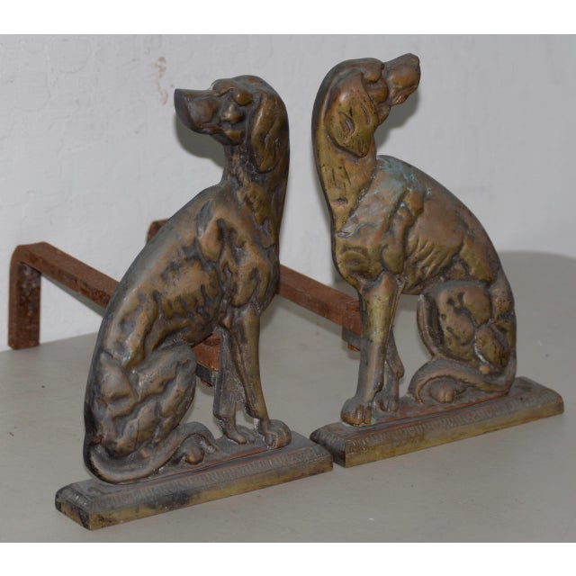 """19th Century Cast Iron """"Shorthaired Pointer"""" Andirons C.1880s - a Pair For Sale In San Francisco - Image 6 of 9"""