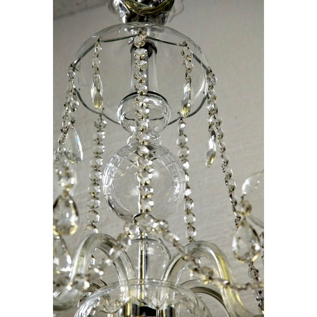 French All Crystal Five Light Chandelier with Waterfall Beading - Image 3 of 7