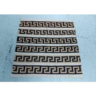 Navajo Hand Woven Wool Rug - w/Brown Labyrinth Patterns -circa 1930s