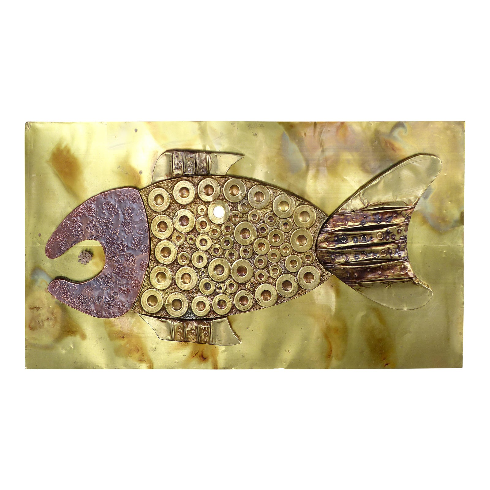 Awesome Copper Fish Wall Art Festooning - Art & Wall Decor ...