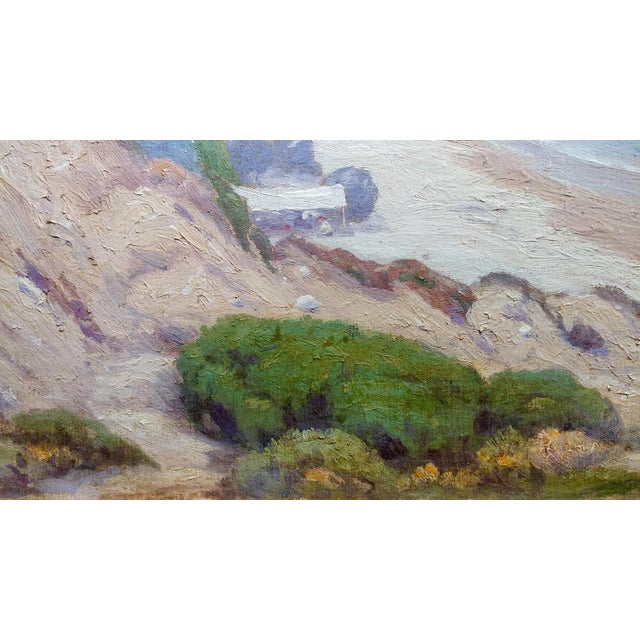 Charles L A Smith-Point Dume,Malibu c.1920s-California impressionist-Oil Painting For Sale - Image 5 of 10