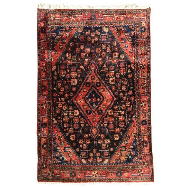 Red Small Turkish Hand-Knotted Rug For Sale - Image 8 of 8