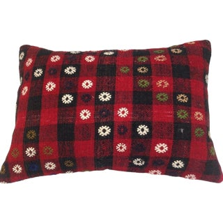 Vintage Red Turkish Kilim Pillow For Sale