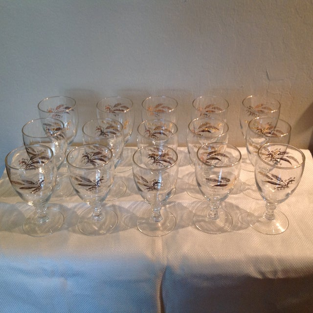 Libbey Glass Co. Libbey Glass Co. Wine Glasses - Set of 15 For Sale - Image 4 of 4