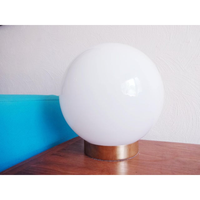 George Kovacs 1970s Mid-Century Modern Glass Orb Lamp For Sale - Image 4 of 6