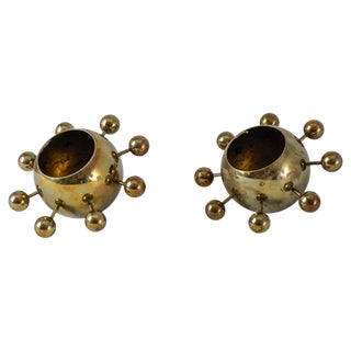Torben Orskov Pair of Model 156 Brass Candelabra, Denmark For Sale