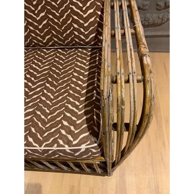 Wood 1930s Rattan 3 Cushion Sofa For Sale - Image 7 of 9