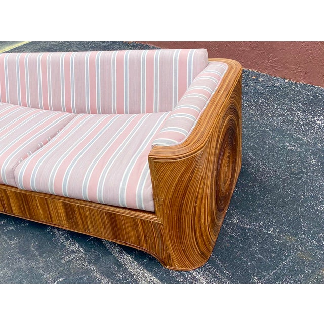 Mid 20th Century Circular Pencil Reed Sofa For Sale - Image 5 of 8