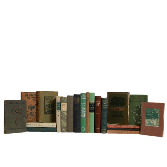 Traditional Vintage Wild Life in Earthtone Book Set, S/20 For Sale - Image 3 of 3
