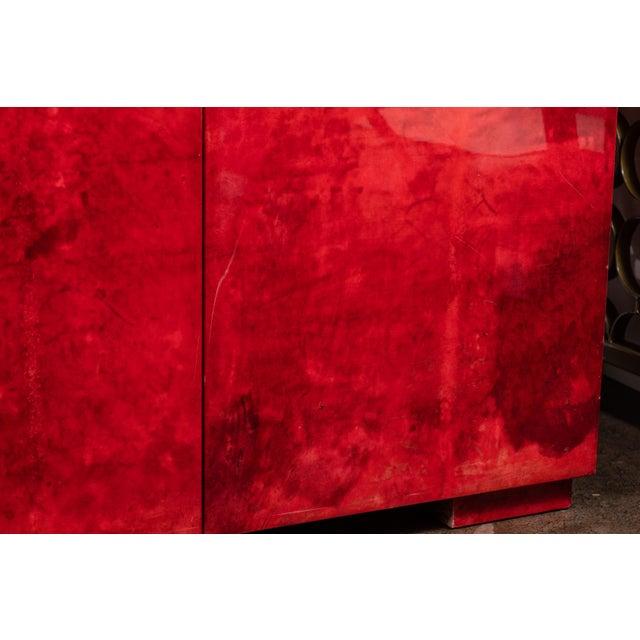 Rare Aldo Tura Goatskin Cabinet/Sideboard For Sale In Los Angeles - Image 6 of 8