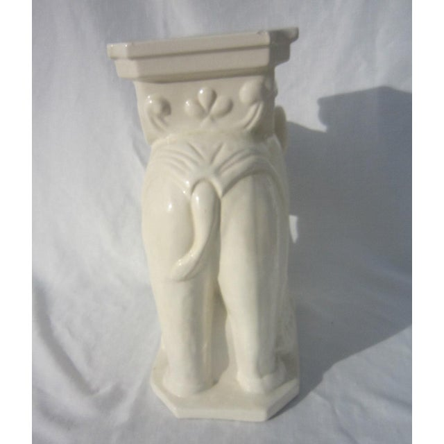 Ceramic Elephant Garden Stool - Image 6 of 6