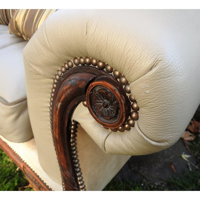 Old Hickory Tannery Horsehair & Leather Sofa - Image 8 of 11