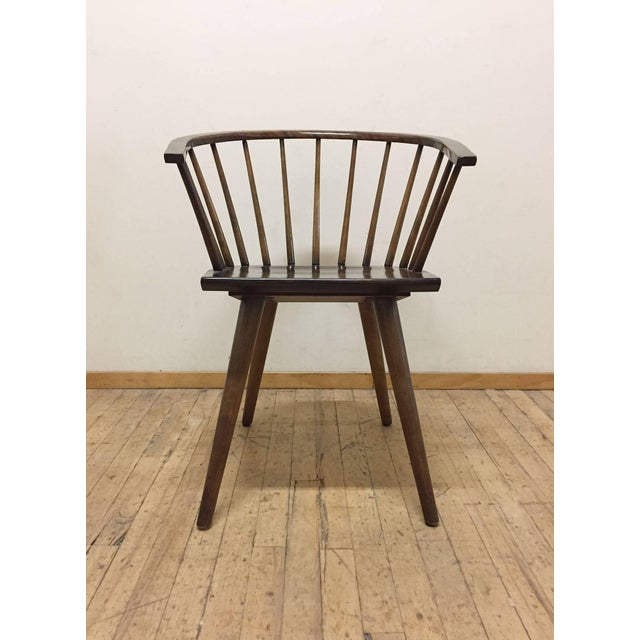 A good matched set of four American Windsor inspired chairs by Russel Wright for Conant Ball company. Signed to underside....
