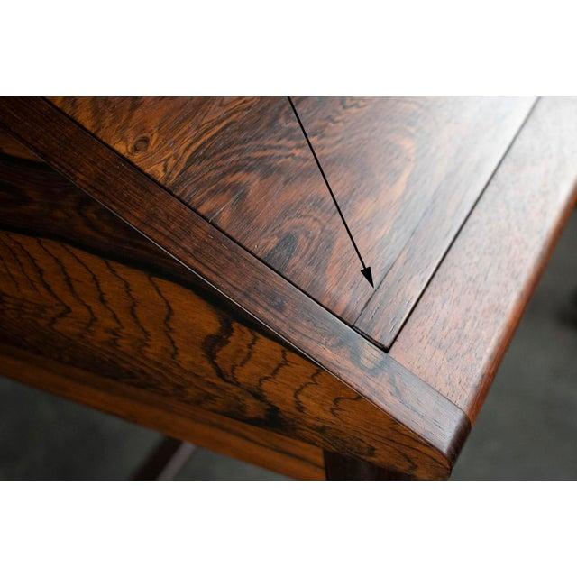 Wood Outstanding Scandinavian Rosewood Secretary Desk by Torbjørn Afdal for Bruksbo For Sale - Image 7 of 8
