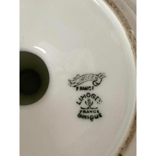 Limoges, France Antique Limoges Boisbertrand & Theilloud Art Deco Porcelain Footed Bowl For Sale - Image 4 of 5