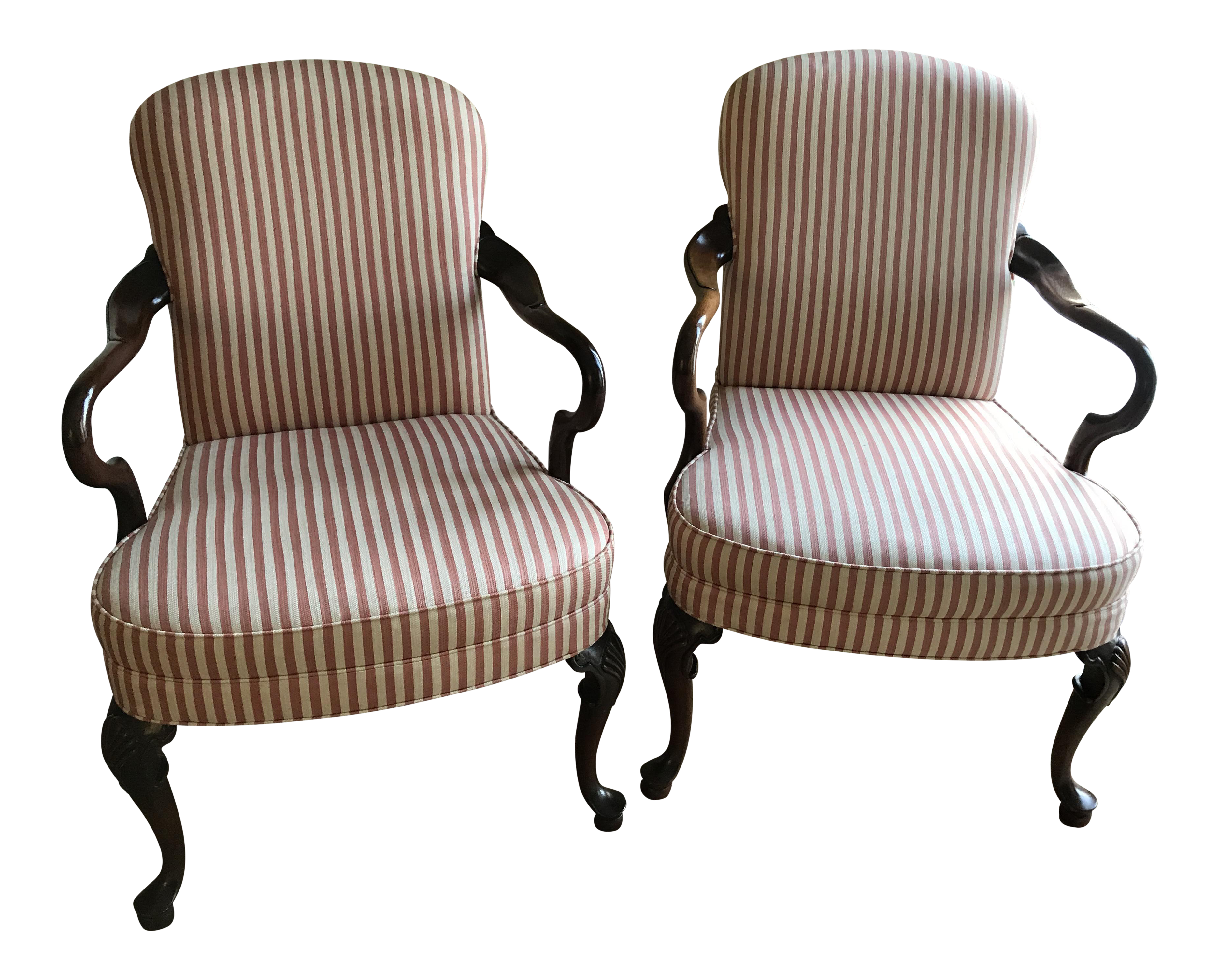 Woodmark Originals Queen Anne Chairs   A Pair   Image 1 Of 7