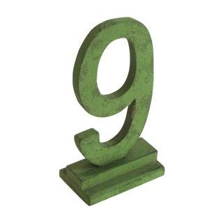 Vintage Number 9 Figure For Sale