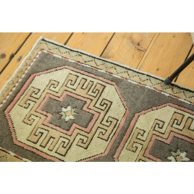 "Boho Chic Vintage Turkish Oushak Runner - 1'8"" x 2'9"" For Sale - Image 3 of 6"