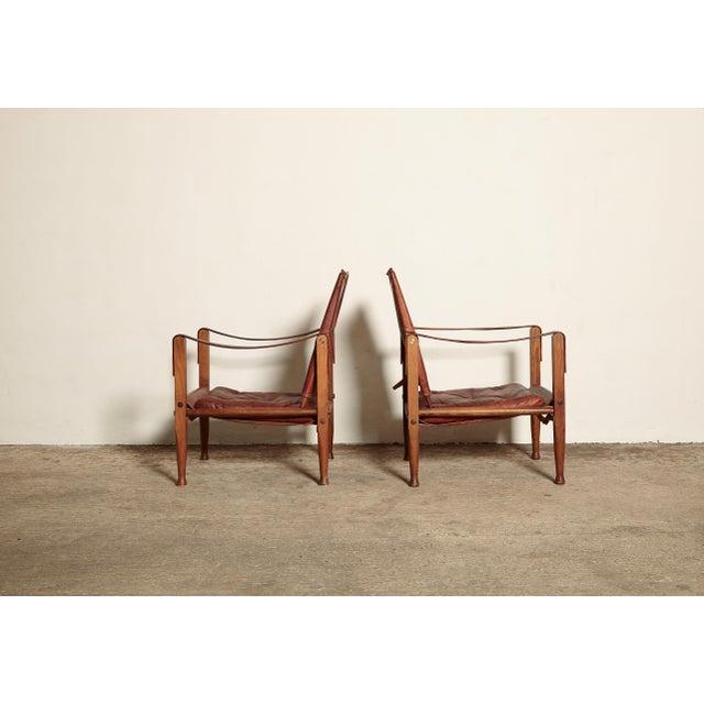 Kaare Klint Safari Chairs and Footstools, Rud Rasmussen, Denmark, 1950s For Sale - Image 9 of 11