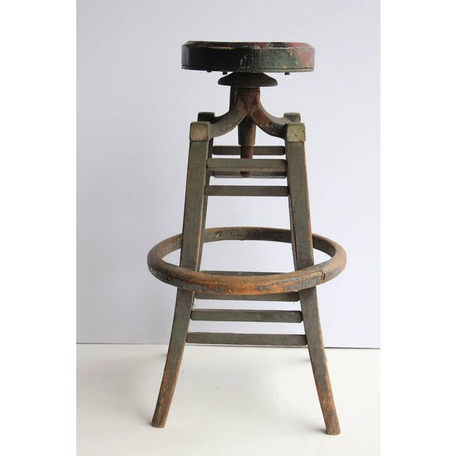 Antique Drafting Stool - Image 4 of 4