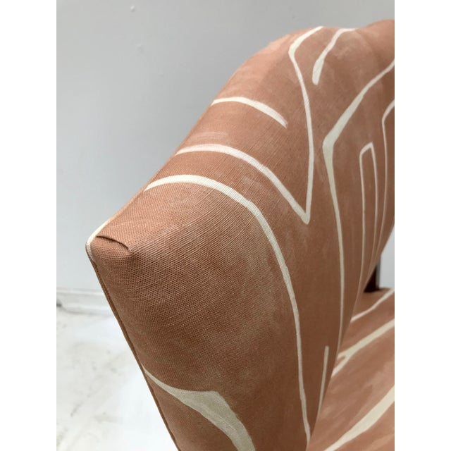 1930s French Renaissance Revival Lounge Chair in Graffito Fabric For Sale - Image 5 of 12