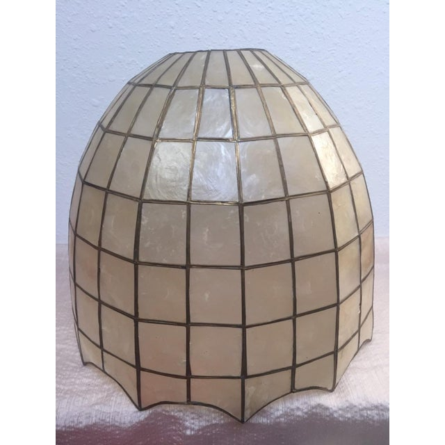 1960s Vintage Capiz Shell Accent Lamp Shades For Sale - Image 5 of 6