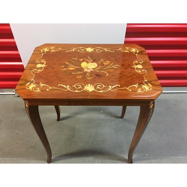 Italian Inlay Side Table For Sale - Image 5 of 5