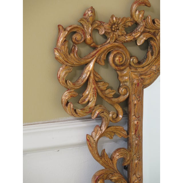 2010s Theodore Alexander French Style Paint Decorated Mirror For Sale - Image 5 of 11