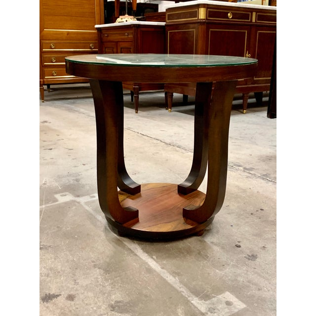 1940s Vintage French Art Deco ''Tulip'' Macassar Coffee Table or Side Table For Sale - Image 12 of 13