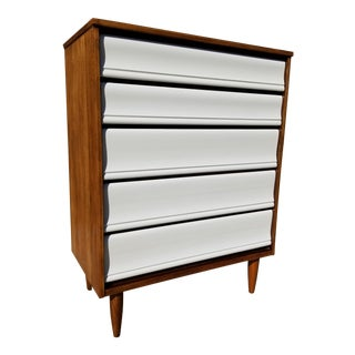 Owosso Mid Century 5 Drawer Highboy For Sale