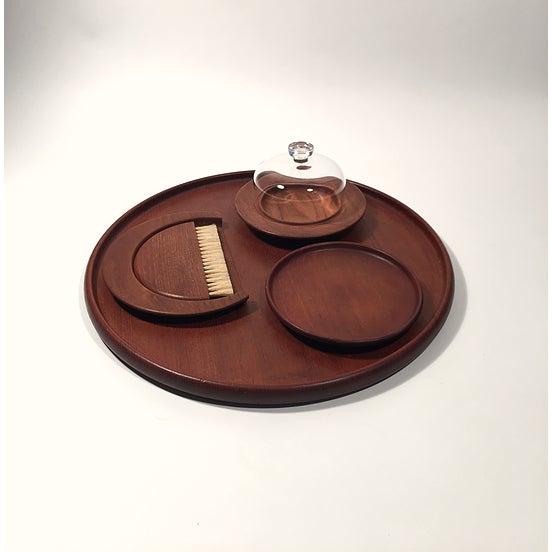 Kay Bojesen Set of Teak Table Accessories by Kay Bojesen For Sale - Image 4 of 4