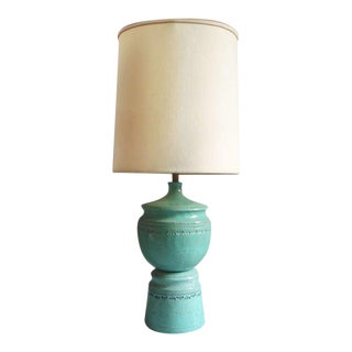 Large Stacked Pottery Table Lamp For Sale