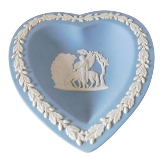 1960s Mid Century Wedgwood Heart Shaped Trinket Dish For Sale