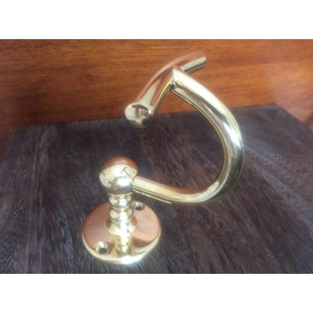 "Waterworks ""Etoile"" Unlacquered Brass Single Hook - Image 4 of 11"
