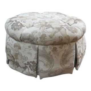 Vintage John M. Smith Round Ottoman For Sale