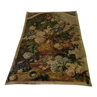 Belgium Flower Bouquet Bird Nest Tapestry