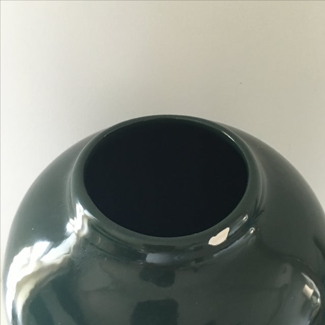 Hunter Green Ceramic Vase - Image 5 of 5