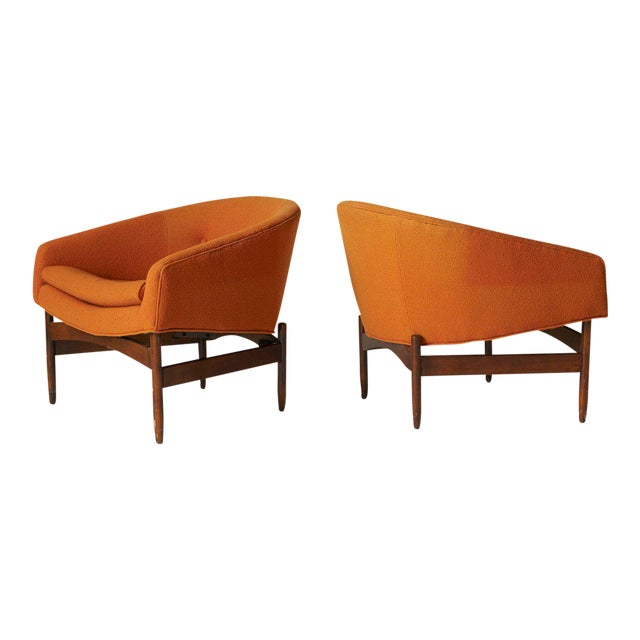 Lawrence Peabody Orange chairs - Image 1 of 7