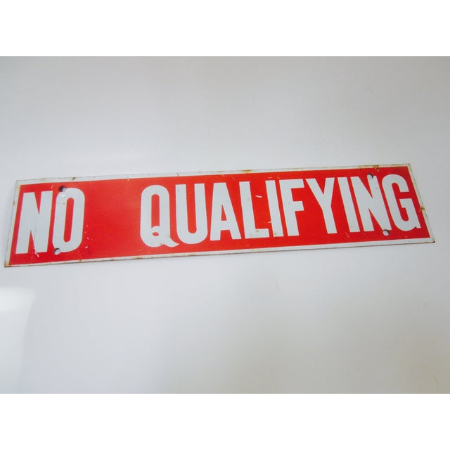No Qualifying Sign Metal Industrial Salvage - Image 2 of 3