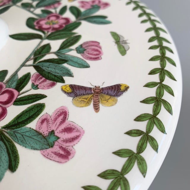 Green English Portmeirion Botanic Garden Rhododendron Covered Casserole Tureen For Sale - Image 8 of 12