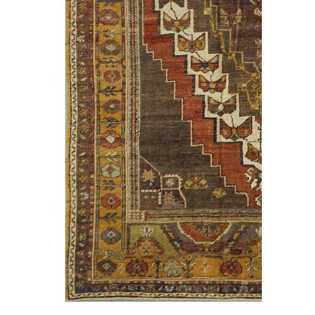 Islamic Vintage Turkish Oushak Rug - 5'4''x8'9'' For Sale - Image 3 of 4