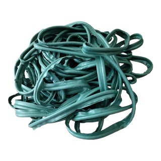 1980s Green Designer Fabric Roping Trim- 28 Yards For Sale