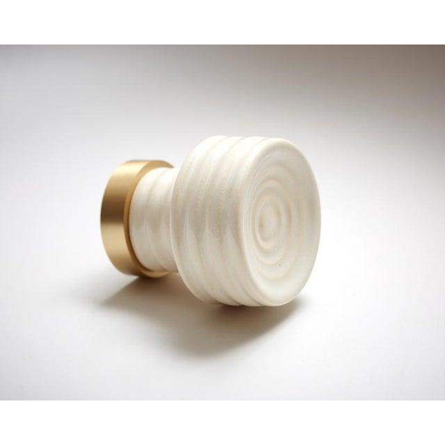 Nest Studio Collection Glaze-01 Soft White Knob For Sale - Image 4 of 4