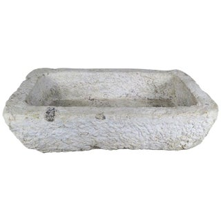 Hand Carved 19th Century French Limestone Sink $3,800 For Sale