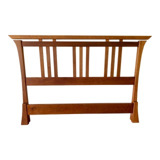 Traditional McKinnon Furniture Handcrafted Queen Size Shinto Bedframe For Sale
