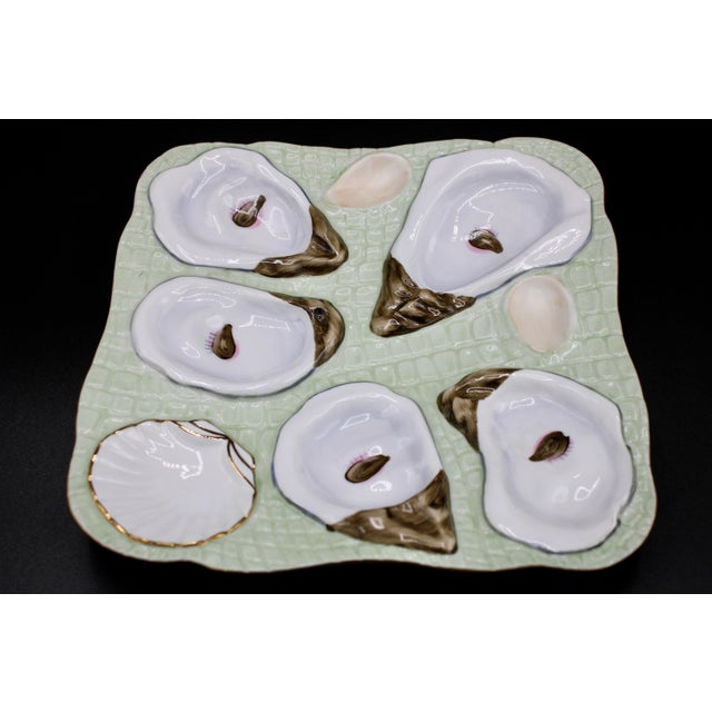 1960s 1960s Mint Green Oyster Plate For Sale - Image 5 of 11