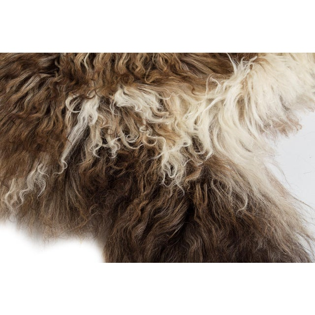 "Contemporary Contemporary Handmade Wool Sheepskin Pelt Rug - 2'0""x2'9"" For Sale - Image 3 of 7"