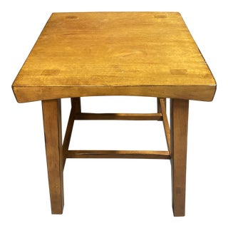 1990s Square Side Table For Sale