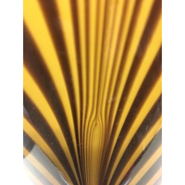 1950s Italian 1950s Dino Martens Mid-Century Modern Zebra Art Glass Vase For Sale - Image 5 of 8