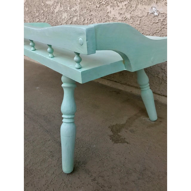 Shabby Chic Painted Farmhouse Style Coffee Table - Image 8 of 10